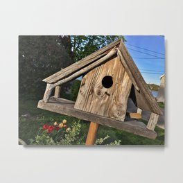 Bird House in the Springtime Metal Print