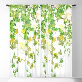 Watercolor Ivy Blackout Curtain