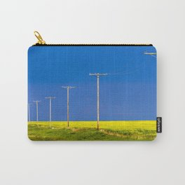 Wood Telephone Poles Canadian Prairies Carry-All Pouch