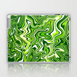 Green Glitter Agate Slice Laptop & iPad Skin
