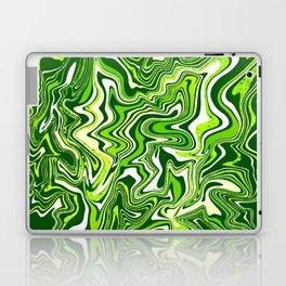 Green Glitter Agate Slice Laptop & iPad Skin