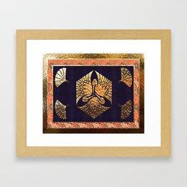 Japanese Swan Traditional Motif Framed Art Print