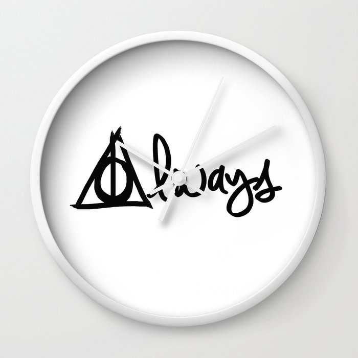 Always Deathly Hallows Harry Potter Wall Clock By Beckiboos Society6