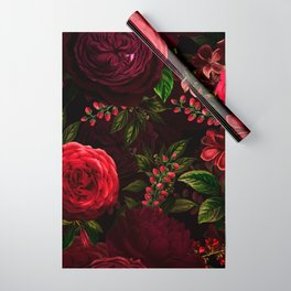 Mystical Night Roses Wrapping Paper