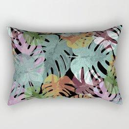Monstera Night Glory Rectangular Pillow