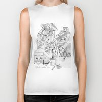 airplane Biker Tanks featuring Airplane by ℳajd