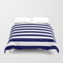Navy Blue & White Stripes- Mix & Match with Simplicity of Life Duvet Cover
