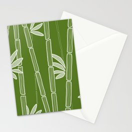 Jungle Green Bamboo Drawing Stationery Cards