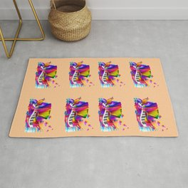 Colorful music instruments , accordion design Rug