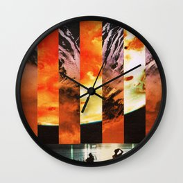 orbiting 70 miles above the moon Wall Clock
