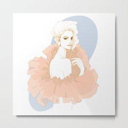 Fashion girl elegant Metal Print