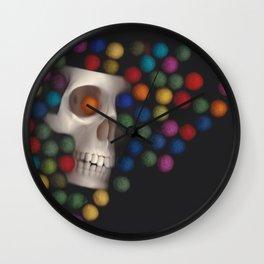 Skull and felt 2 Wall Clock