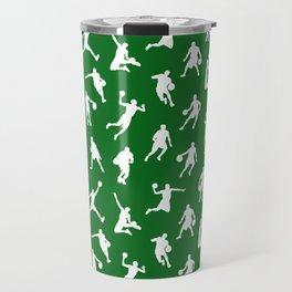 Basketball Players // Green Travel Mug
