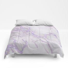 Ultra Violet Marble Comforters