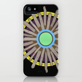 radial blame I iPhone Case
