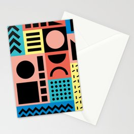 Neo Memphis Pattern 1 - Abstract Geometric / 80s-90s Retro Stationery Cards