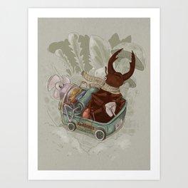 One man's trash - New Wheels Art Print
