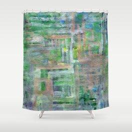 The Blue Gates Shower Curtain
