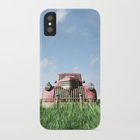 truck iPhone & iPod Cases featuring Red Truck by Cynthia Decker