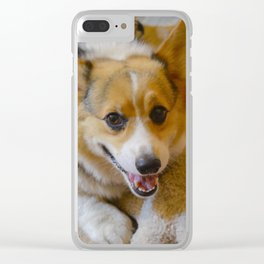 Josh The Corgi Clear iPhone Case