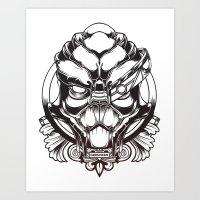 garrus Art Prints featuring Mass Effect. Garrus Vakarian by OneAppleInBox