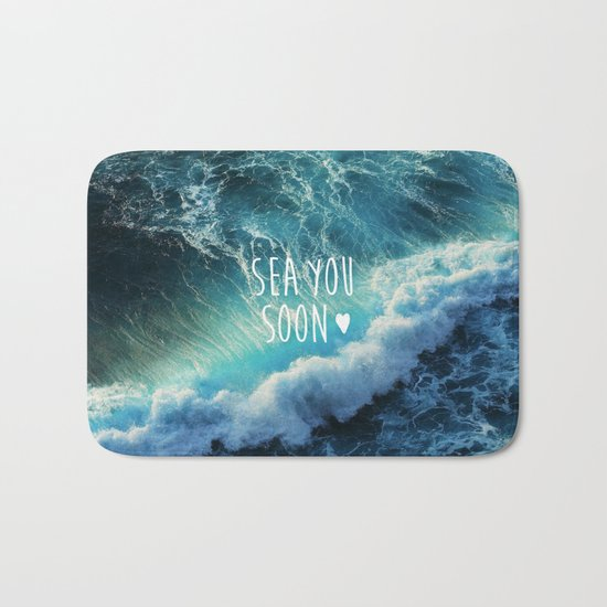 Sea you soon Bath Mat