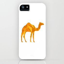 Camel artistic design illustration iPhone Case