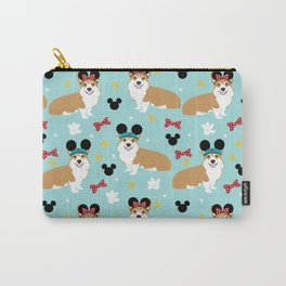Corgi theme park lover dog breed pattern gifts Carry-All Pouch