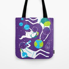 A Day Out In Space - Purple Tote Bag