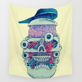 Skull stack Wall Tapestry