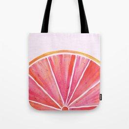 Sunny Grapefruit Watercolor Tote Bag