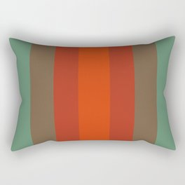 Rust Turquoise Spice 2 - Color Therapy Rectangular Pillow