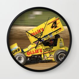 Kasey on the gas Wall Clock