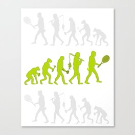 Evolution of Tennis Species Canvas Print