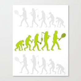 Evolution of Tennis Species Canvas Print