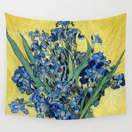1890-Vincent van Gogh-Irises-73,5x92 Wall Tapestry