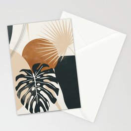 Abstract Art Tropical Leaves 7 Stationery Cards