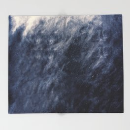 Blue Clouds, Blue Moon Throw Blanket
