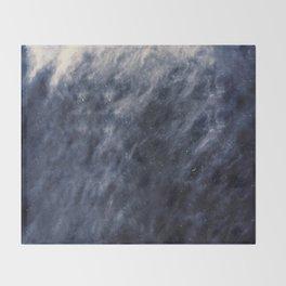 Blue Clouds, Blue Moon Throw Blanket