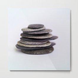 A Meditative Image of Stones Metal Print