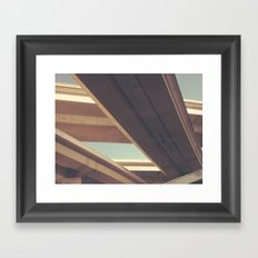 (connect) Framed Art Print
