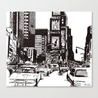 new york Canvas Prints featuring New York New York by Bianca Green