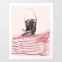 Red River Graphic #2 Art Print