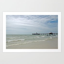 Fort Myers Pier Art Print