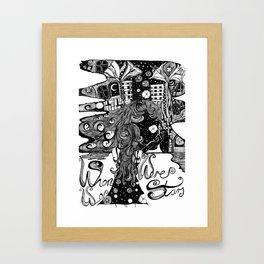 When We Were Stars Framed Art Print