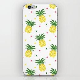 Tropical fruit sunshine yellow green pineapple polka dots iPhone Skin