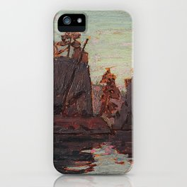 Tom Thomson - Petawawa Gorges - Canada, Canadian Oil Painting - Group of Seven iPhone Case