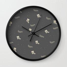 Scorpio Pattern Wall Clock
