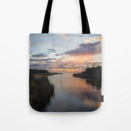 Sound Side Sunset Tote Bag