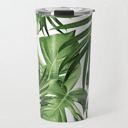 Tropical Jungle Leaves Pattern #12 #tropical #decor #art #society6 Travel Mug
